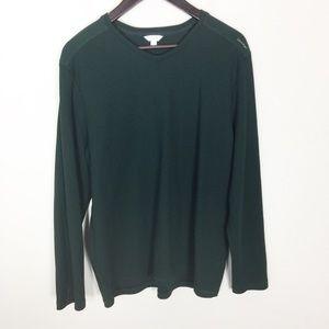 Calvin Klein Hunter Green Long Sleeve Sweater